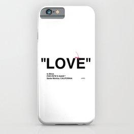 """LOVE"" iPhone Case"