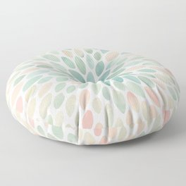 Floral Bloom, Abstract Watercolor, Coral, Peach, Green, Floral Prints Floor Pillow