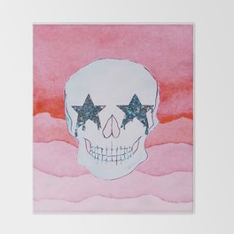 star skull Throw Blanket