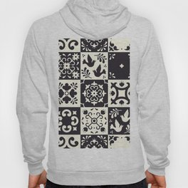 Moroccan Tiles in Black and White Hoody