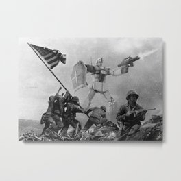 Raising the Flag on Iwo Jima Metal Print