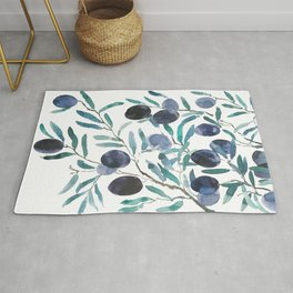 black olive watercolor 2018 Rug