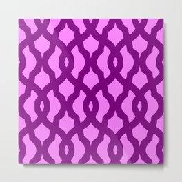 Grille No. 2 -- Violet Metal Print