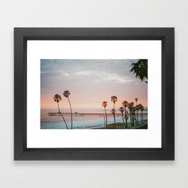 palm trees sunset vi / san clemente, california Framed Art Print