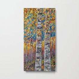 Colorful Autumn Aspen Trees  Metal Print