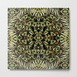 Greenfield pattern Metal Print
