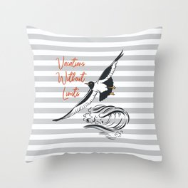 Sea adventure. Vacations without limits Throw Pillow