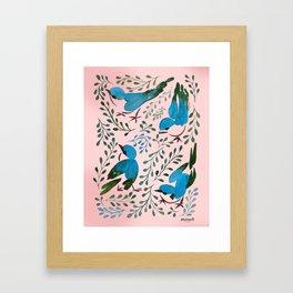 Birds in Spring Framed Art Print