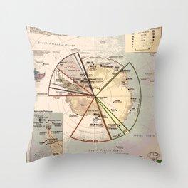 Antarctica Territories Throw Pillow