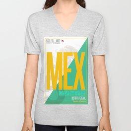 Mexico City - Ciudad de la Esperanza Travel Poster Unisex V-Neck