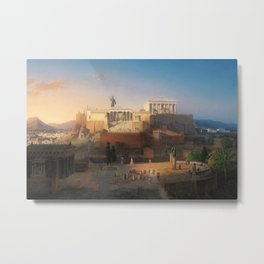 The Acropolis of Athens, Greece by Leo von Klenze Metal Print