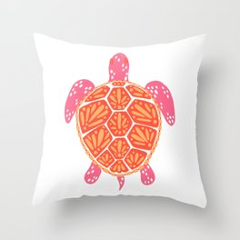 Sea Turtle – Melon Palette Throw Pillow