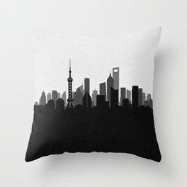 City Skylines: Shanghai Throw Pillow