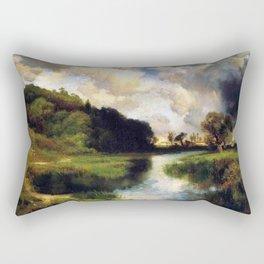 River Landscape, Amagansett, Long Island, New York pastoral by Thomas Mann Rectangular Pillow