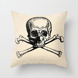 Skull and Crossbones Art Print Throw Pillow