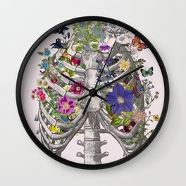 Ribs and flowers Wall Clock