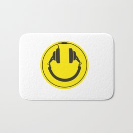 Headphones smiley wire plug Bath Mat