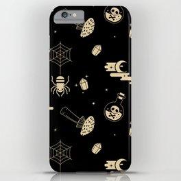 Halloween pattern in black bg iPhone Case