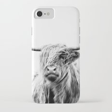 portrait of a highland cow iPhone 8 Slim Case