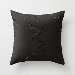 Born Under The Sign of The Snake (black) Throw Pillow