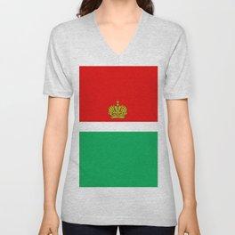 flag of Kaluga Unisex V-Neck
