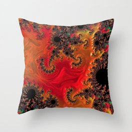 Fire and Beauty Throw Pillow