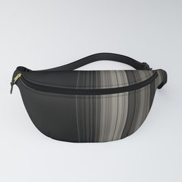 Modern Black Ribbon Pattern Design Fanny Pack