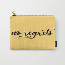 No regrets typographic print, self motivating caption Carry-All Pouch