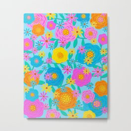 Pretty Floral Design Metal Print