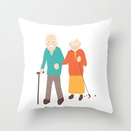 Happily Married For Ages Throw Pillow