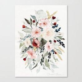 Loose Watercolor Bouquet Leinwanddruck