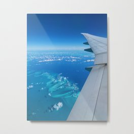 Flight over Bahamas Metal Print