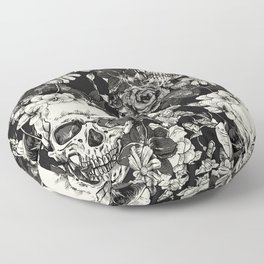 SKULLS HALLOWEEN SKULL Floor Pillow