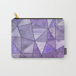 Purple Lilac Glamour Shiny Stained Glass Carry-All Pouch