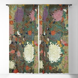 flower【Japanese painting】 Blackout Curtain