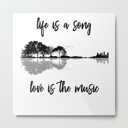 Life Is A Song Nature Guitar Forest Music Lyrics Metal Print
