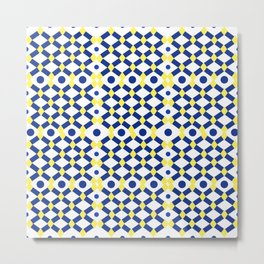 Moroccan Inspired Tile Pattern Metal Print