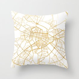 SOFIA BULGARIA CITY STREET MAP ART Throw Pillow