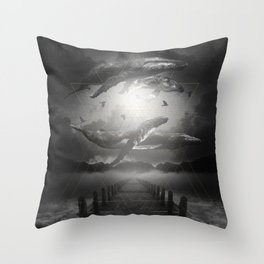 The Space Between Dreams & Reality II Throw Pillow