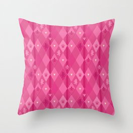 Pink Lily Bears Throw Pillow
