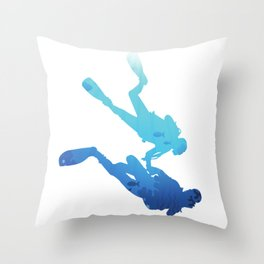 Dive For Two | Diving For Couples Throw Pillow