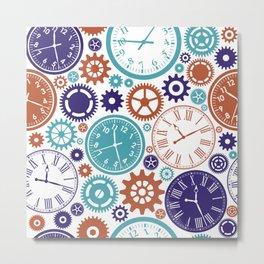 Colorful Clocks Metal Print