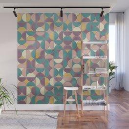 Portuguese Mosaics Tiles Pattern - Mid Century Geometric Texture Wall Mural