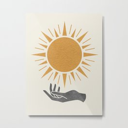 Sunburst Hand Metal Print