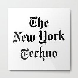 The New York Techno Metal Print