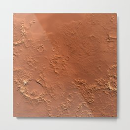 Mars Surface Metal Print