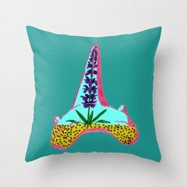 Shark Tooth Terrarium 4 Throw Pillow