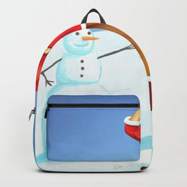 Vintage pin up - happy holidays Backpack