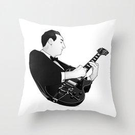 LES PAUL House of Sound - BLACK GUITAR Throw Pillow