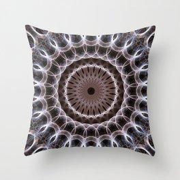 Mandala with lightnings pattern Throw Pillow